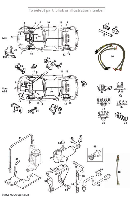 MGOC SPARES PIPES INC CLUTCH  MGF TF  491 together with Rear Brakes besides Mga furthermore 40 Washer Spring furthermore Midget. on mg midget fuel system