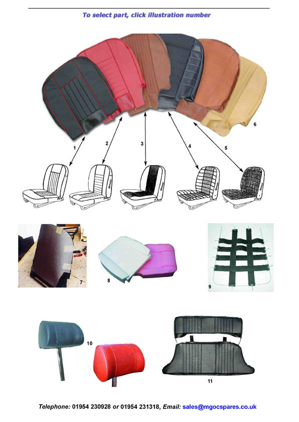 Mgoc Spares Amp Accessories Seat Covers Kits Mgb